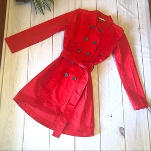 Jackets & Blazers - Cabi Red Trench Coat Convertible Size 4